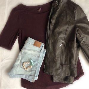 ⭐️ Loft Outlet Maroon T-Shirt
